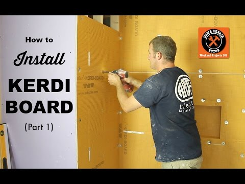 How to Install Schluter KERDI-BOARD in a Bathroom Part 1 (Step-by-Step)