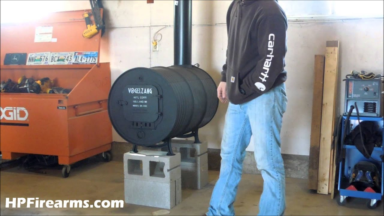 Barrel Wood Burning Stove How To Build A Homemade Double Garage Heater