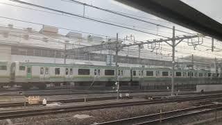 野田線急行名物  東北線との並走(上下列車)