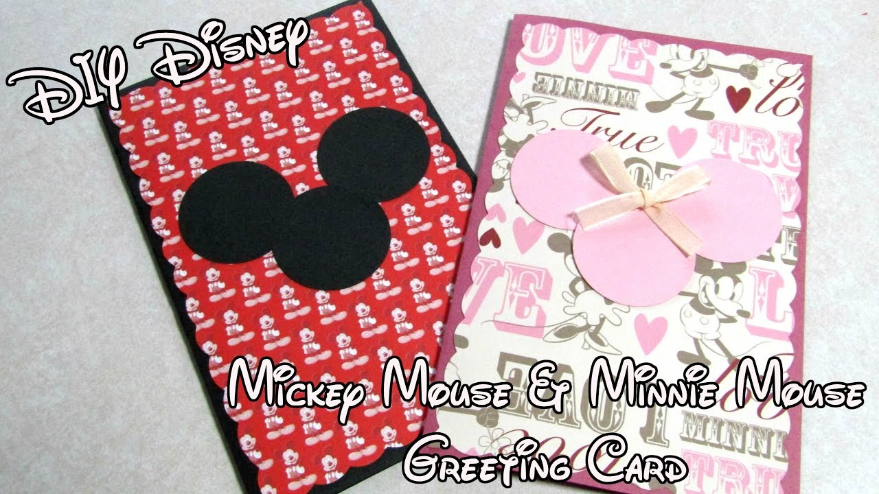 Fresh DIY Disney Mickey Mouse & Minnie Mouse Greeting Card Tutorial  ZN81