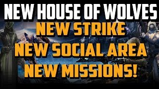Destiny - 5k GIVEAWAY, House Of Wolves Leak Reef Social Space, Queen's Mission, and New Strike!