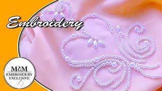 Luneville embroidery  Beadwork hook || Вышивка крючком  би�ером