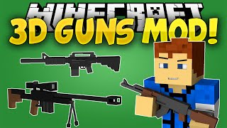 Minecraft Mods: 3D Guns Mod - GUNS IN MINECRAFT! [Snipers and Shotguns!] (Minecraft Mod Showcase)