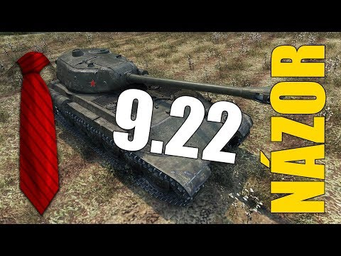 UPDATE 9.22 | Názor + Info 2 k soutěži 15k subs! (SuperKravaťák ve World of Tanks)