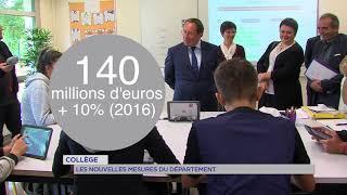 Yvelines : les nouveautés dans les collèges présentées par le Département