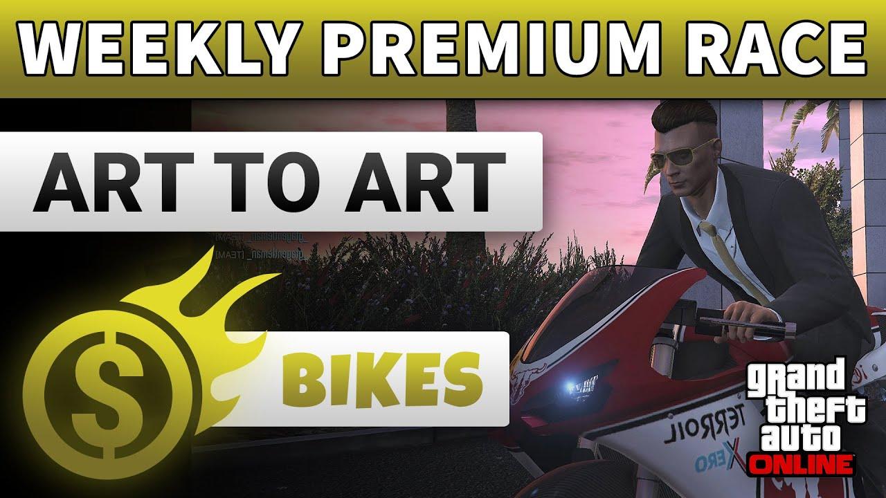 Premium Race GTA 5 Online This Week Art to Art (Bike Race) | GTA ONLINE WEEKLY PREMIUM RACE GUIDE
