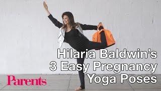 Hilaria Baldwin: 3 Easy Pregnancy Yoga Poses | Parents