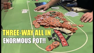 Two Opponents Shove On Me In Gigantic All In Pot!! Poker Vlog Ep 149