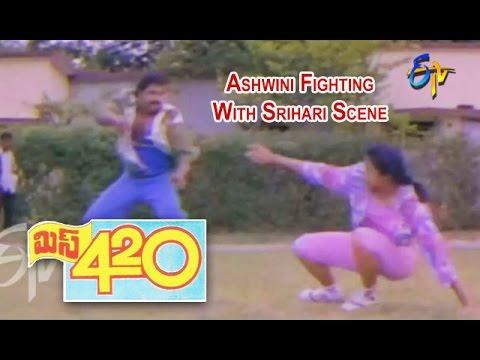Miss 420 Telugu Movie | Ashwini Nachappa Fighting With Srihari Scene | Raj Kumar | ETV Cinema