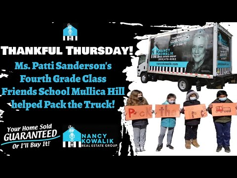 Food Drive with Help of Friends School Mullica Hill 4th Grade Class