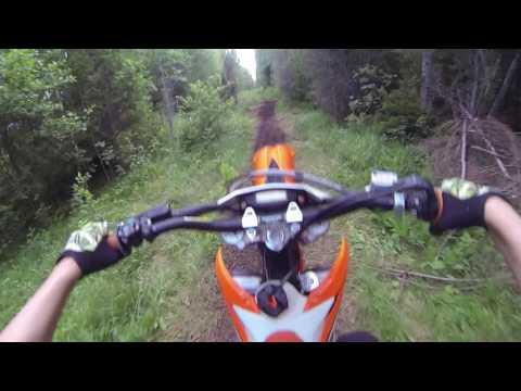 ktm exc 450 trail ride