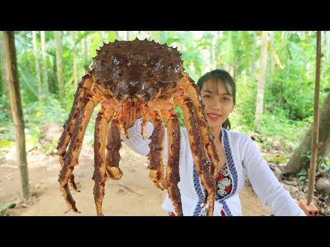Yummy cooking 250$ GIANT King Crab recipe – Cooking skill
