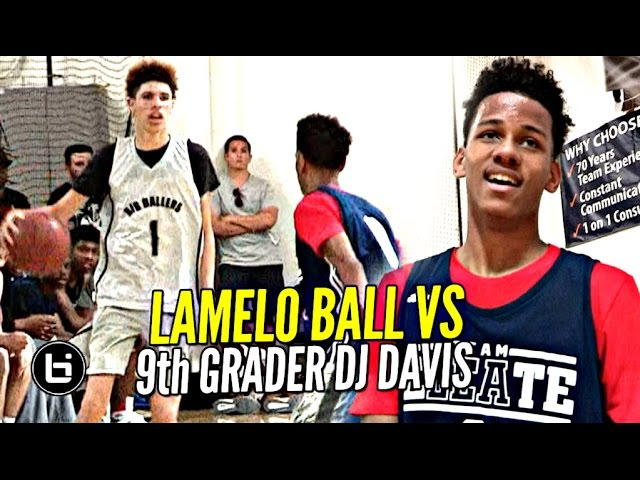 lamelo-ball-gets-challenged-by-9th-grader-dj-davis-ankle-bully-ceo-vs-bucket-team-ceo-mini-battle
