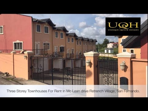 Three storey townhouses for rent in San Fernando - Trinidad and Tobago
