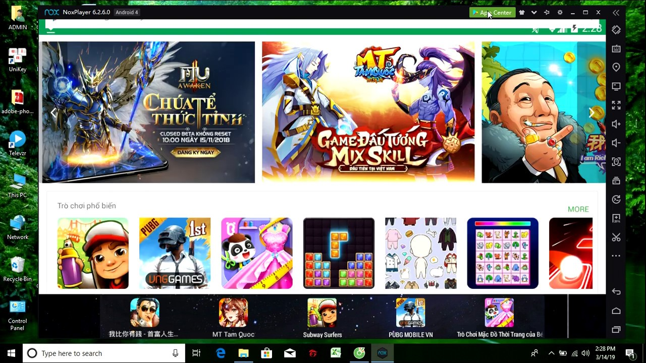 Tân Thiên Long mobile cách tải game trên pc