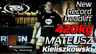 Mateusz Kieliszkowski New Deadlift Record 420kg