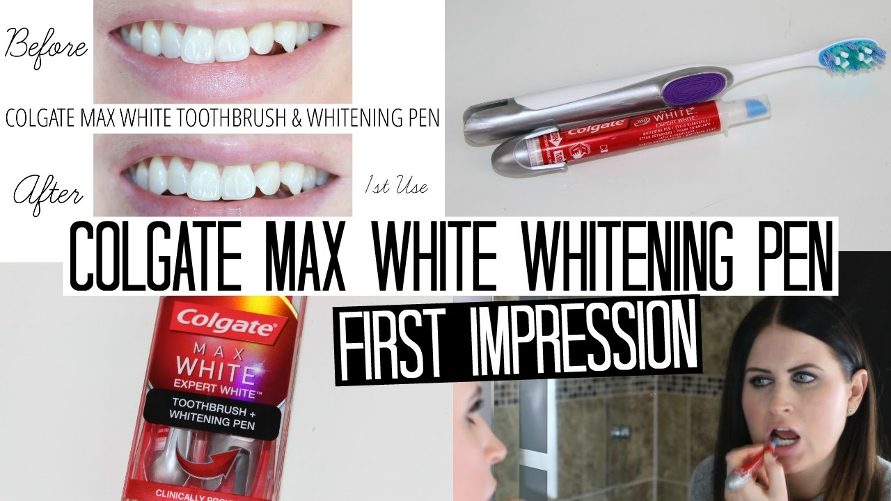 Colgate Max White Whitening Pen First Impressions Week Youtube