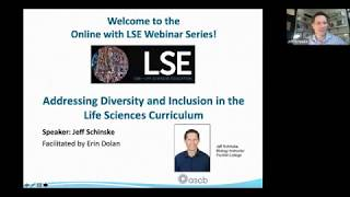 ASCB Webinar: Addressing Diversity and Inclusion in the Life Sciences Curriculum