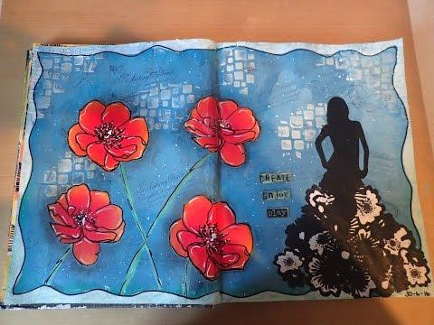 Art Journal Page - Create Enjoy Play (Mixed media)