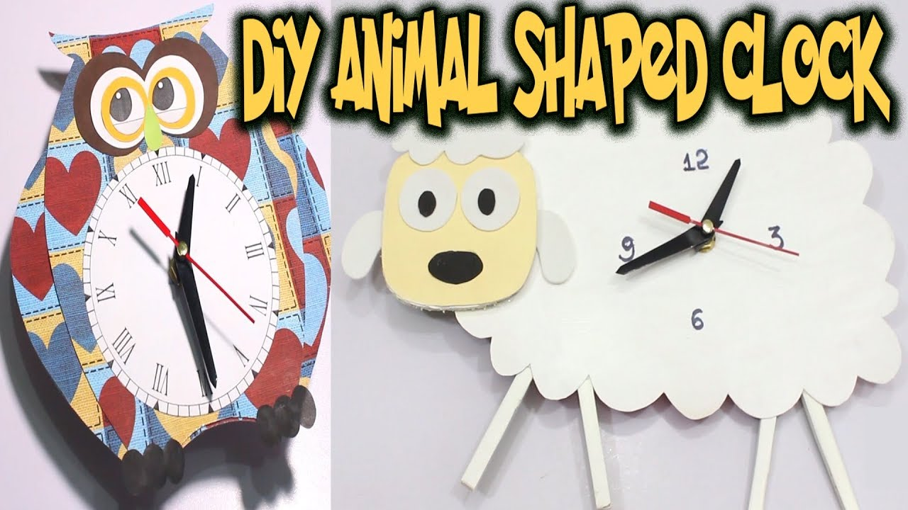 DIY Cardboard Clock Homemade