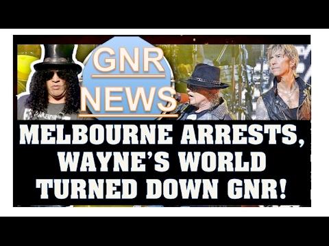 Guns N' Roses News  Melbourne Concert Arrests, Wayne's World Turned GNR Down & Rare Photos!