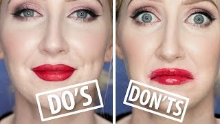 Video MAKEUP DO'S AND DON'TS  - Red Lipstick Mistakes To Avoid! | Sharon Farrell download MP3, 3GP, MP4, WEBM, AVI, FLV Agustus 2017