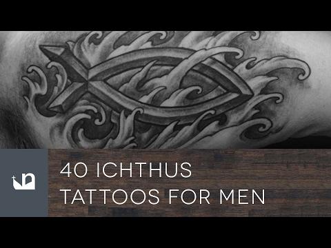 40 Ichthus Tattoos For Men