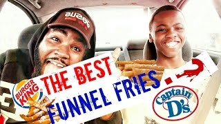 Burger King vs Capton D's Funnel Fries [Tast Test]