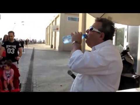 Greek music and dancing at Tel Aviv harbor