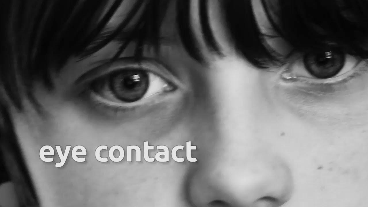 poor eye contact autism