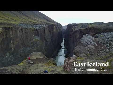 Magnificent Hafrahvammagljufur Canyon near Karahnjukar Dam, East Iceland