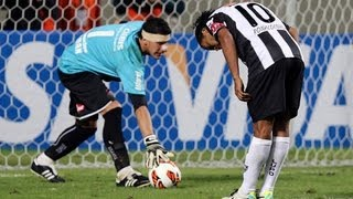 ronaldinho penalty concentracion vs newells 10 07 2013