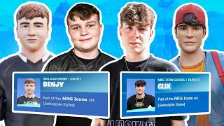 NRG Fortnite Reacts to Their Own Custom Fortnite Skins (Benjyfishy, Clix, Ronaldo, Edgey, EpikWhale)