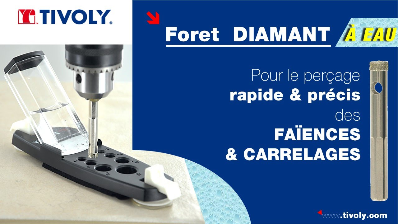 Percer facilement et sans casse les fa ences et carrelages for Percer carrelage foret