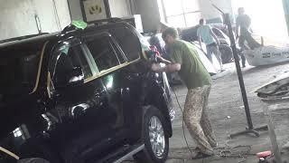 Toyota Land Cruiser Prado. Полировка замученного авто.