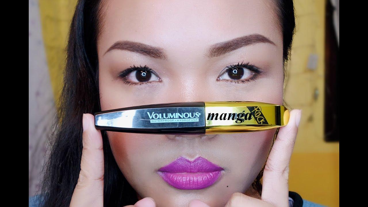 4260f587f84 Product review   L'oreal Miss Manga Rock voluminous mascara & demo. Makeup  byte