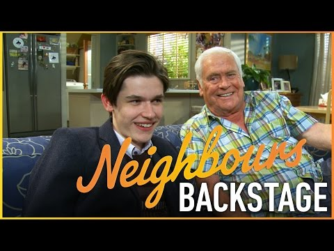Neighbours Backstage  Tom Oliver Lou and Calen Mackenzie Bailey