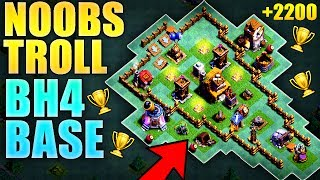 BEST Builder Hall 4 Troll Base / BH4 FUNNY FAILS / New CoC Best BH4 Builder Base | Clash of Clans