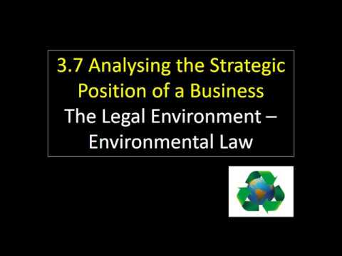 3.7 34 The Legal Environment - Environmental Law