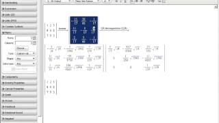 Maple Training: Working with Matrices