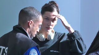 Bella Hadid Shows Her Support For Elon Musk By Wearing Space X Shirt At LAX!