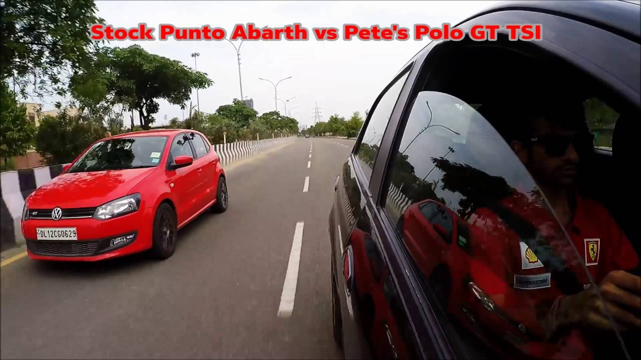 punto abarth killing the polo gt tsis - youtube