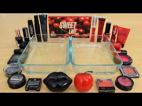 Black vs Red - Mixing Makeup Eyeshadow Into Slime Special Series 241 Satisfying Slime Video