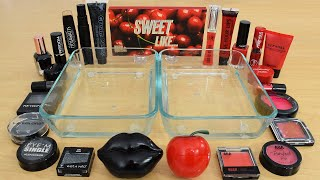 Black vs Red - Mixing Makeup Eyeshadow Into Slime Special Series 241 Satisfying Slime Video