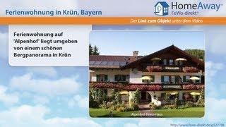 Oberbayern: Ferienwohnung auf 'Alpenhof' liegt umgeben von einem schönen - FeWo-direkt.de Video