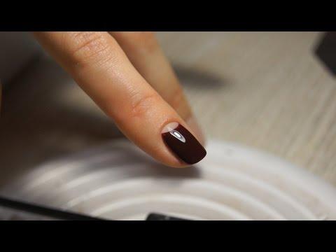 Half Moon Manicure Nail Art - Дизайн ногтей: Лунный маникюр