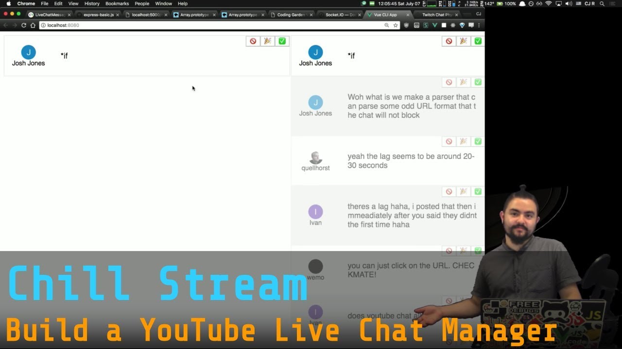 Chill Stream - Hangout/Chat/Hello Redditors! - Build a YouTube Live Chat  Manager