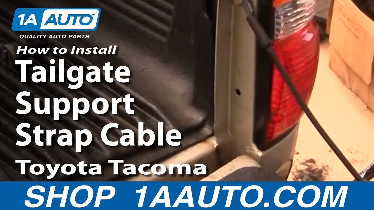 04 Toyota Tacoma >> How to Install Replace 95-04 Toyota Tacoma Tailgate Support Strap Cable 1AAuto.com - YouTube