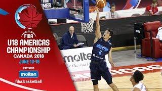Dominican Republic v Argentina - Quarter-Finals - Re-Live (ENG)- FIBA U18 Americas Championship 2018