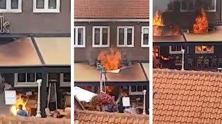 Amateurbeelden laten zien hoe snel vlammenzee Egmond zich verspreidde
